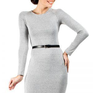 Ashen Seam Shift Dress with Raglan Sleeves - Dresses -