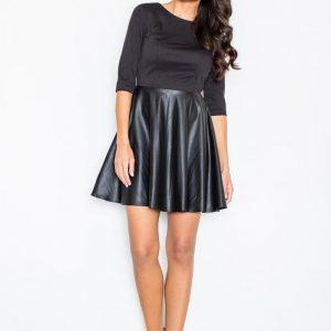 Black Miss Delighted Kelly Skater Dress - Dresses -