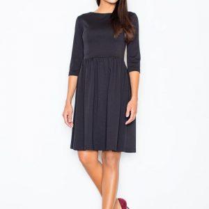 Black Sassy Full Swing Ruby Dress - Dresses -