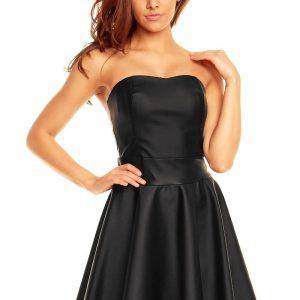Black Sweet Heart Flippy Bandeau Dress - Dresses -