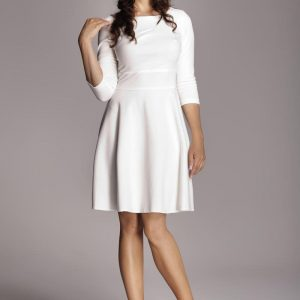 Ecru Giggly Fashion Flared Skirt Dress - Dresses -