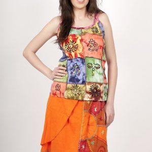 Maiou bumbac Colorful Squares - Femei - Bluze