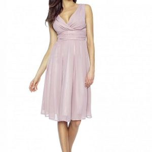 Pink Sweety Pinned-up Scarlet Dress - Dresses -