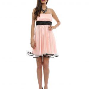 Rochie baby-doll din tul roz 9362-2 - ROCHII DE SEARA SI OCAZIE - BAL