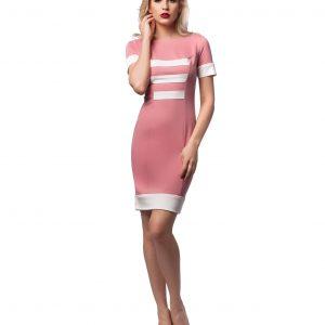 Rochie casual roz 9444-2 - ROCHII DE ZI - Pentru fiecare zi