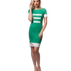Rochie casual verde 9444-1 - ROCHII DE ZI - Pentru fiecare zi