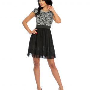 Rochie de ocazie alb-negru 9325 - ROCHII DE SEARA SI OCAZIE - BAL