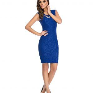 Rochie de ocazie dantela albastra 9309-2 - ROCHII DE SEARA SI OCAZIE - OCAZIE