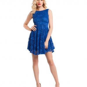 Rochie de ocazie dantela albastra 9353-1 - ROCHII DE SEARA SI OCAZIE - OCAZIE