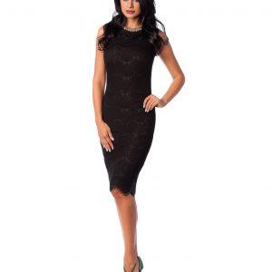 Rochie de ocazie dantela neagra 9288-3 - ROCHII DE SEARA SI OCAZIE - OCAZIE