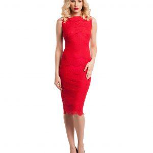Rochie de ocazie dantela rosie 9288-1 - ROCHII DE SEARA SI OCAZIE - OCAZIE