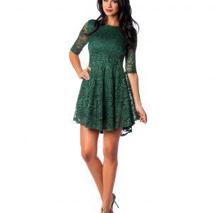 Rochie de ocazie dantela verde 9386-2 - ROCHII DE SEARA SI OCAZIE - OCAZIE