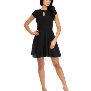 Rochie de zi cu croi lejer neagra 9326-3 - ROCHII DE ZI - Pentru fiecare zi