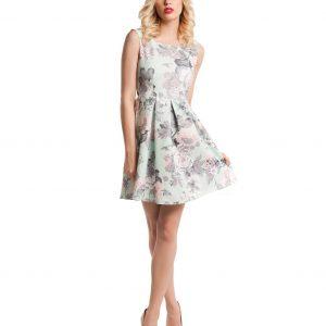 Rochie de zi imprimeu floral 9369 - ROCHII DE ZI - Pentru fiecare zi