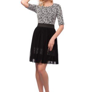 Rochie eleganta alb-negru 9415 - ROCHII DE SEARA SI OCAZIE - OCAZIE