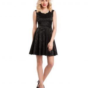 Rochie eleganta brocard negru 9349-4 - ROCHII DE ZI - Pentru fiecare zi