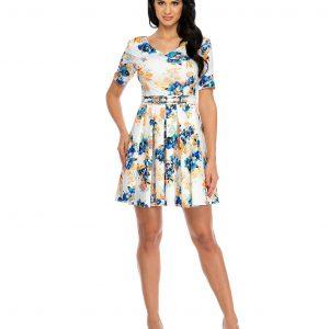 Rochie eleganta imprimeu floral 9336 - ROCHII DE ZI - Pentru fiecare zi