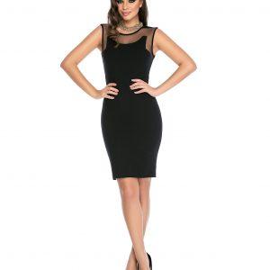 Rochie eleganta neagra 9310-1 - ROCHII DE ZI - Pentru fiecare zi
