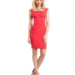 Rochie eleganta rosie 9368-3 - ROCHII DE ZI - Pentru fiecare zi