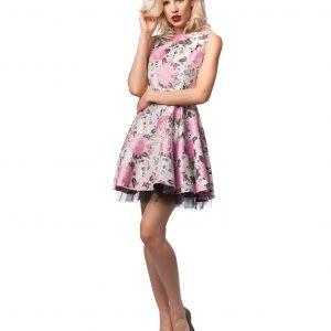 Rochie imprimeu floral elegant 9441 - ROCHII DE SEARA SI OCAZIE - OCAZIE