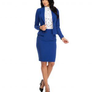 Sacou dama elegant albastru 678-2 - SACOURI - Sacouri