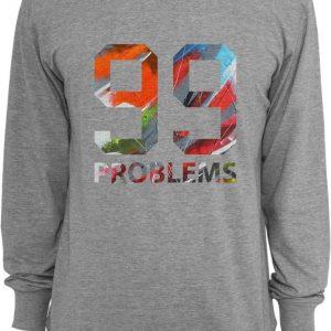 99 Problems Art Crewneck gri Mister Tee - Bluze cu mesaje - Mister Tee>Regular>Bluze cu mesaje