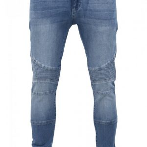 Blugi Slim Fit Biker albastru-washed Urban Classics - Barbati - Urban Classics>Colectie noua>Barbati