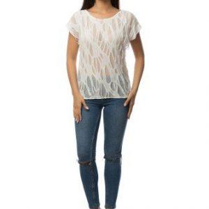 Bluza alba din bumbac CSF-111 - Bluze si topuri -