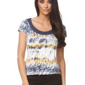 Bluza alba din jerse cu imprimeu pictura CP137 - Bluze si topuri -