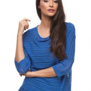 Bluza albastra din tricot 4393 - Bluze si topuri -