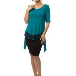 Bluza asimetrica ROX TURQUOISE - Bluze si topuri -
