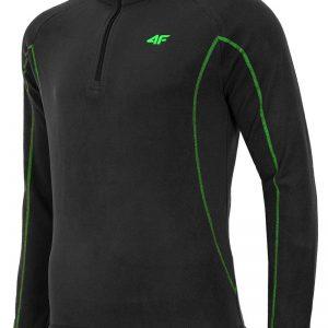 Bluza barbateasca Black 4F din material fleece - Promotii - Promotiile saptamanii