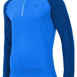 Bluza barbateasca Blue 4F din material fleece - Promotii - Promotiile saptamanii