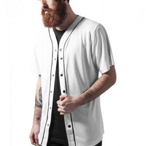 Bluza baseball Mesh alb-negru Urban Classics - Tricouri urban - Urban Classics>Barbati>Tricouri urban