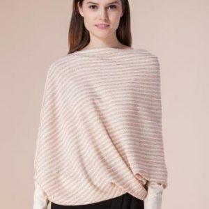 Bluza bej asimetrica D1711C - Bluze si topuri -