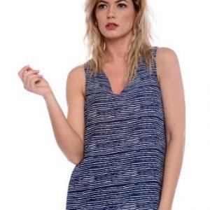 Bluza bleumarin cu dungi fara maneci AM-40204 - Bluze si topuri -
