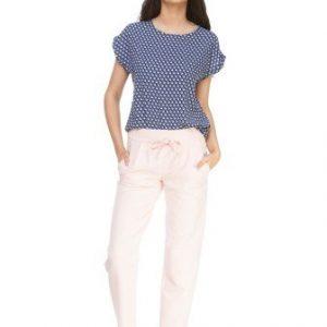 Bluza bleumarin cu imprimeu buline D2134A - Bluze si topuri -