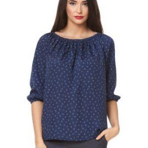 Bluza bleumarin cu maneca trei sferturi D2306 - Bluze si topuri -