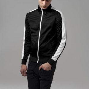 Bluza de trening negru-alb Urban Classics - Geci subtiri - Urban Classics>Barbati>Geci subtiri