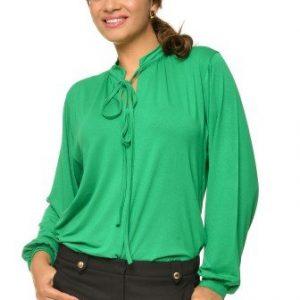 Bluza eleganta din vascoza BN02 verde - Outlet -
