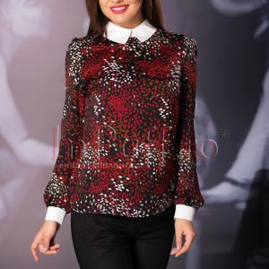 Bluza neagra cu buline rosii - CAMASI -