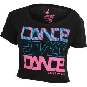 Bluza scurta Dance imprimeu zebra negru-albastru Urban Dance - Urban Dance - Urban Dance