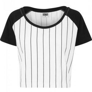 Bluza scurta basebal pentru Femei alb-negru Urban Classics - Topuri scurte - Urban Classics>Femei>Topuri scurte