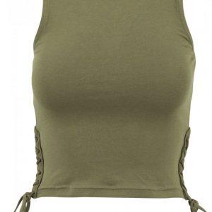 Bluza scurta cu siret pentru Femei oliv Urban Classics - Maiouri urban - Urban Classics>Femei>Maiouri urban