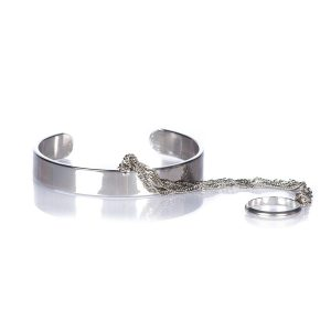 Bratara argintie cu ine Argintiu - Accesorii - Accesorii / Bratari