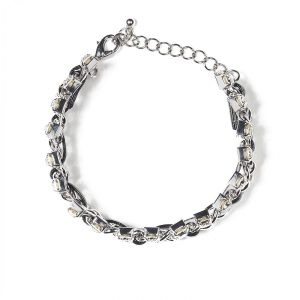 Bratara eleganta cu cristale translucide Argintiu/Negru - Accesorii - Accesorii / Bratari