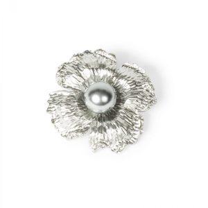 Brosa argintie cu perla Argintiu - Accesorii - Accesorii / Brose