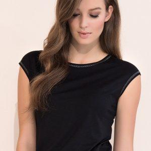 Buza eleganta Vivian Black - Haine si accesorii - Tricouri  maiouri  tunici si pulovere