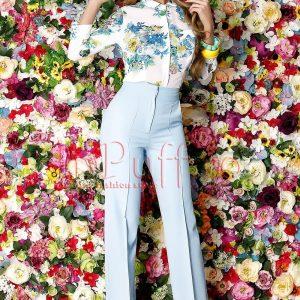 Camasa alba cu imprimeu floral colorat - CAMASI -