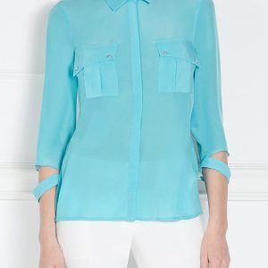 Camasa albastra cu buzunare mari Albastru - Imbracaminte - Imbracaminte / Camasi